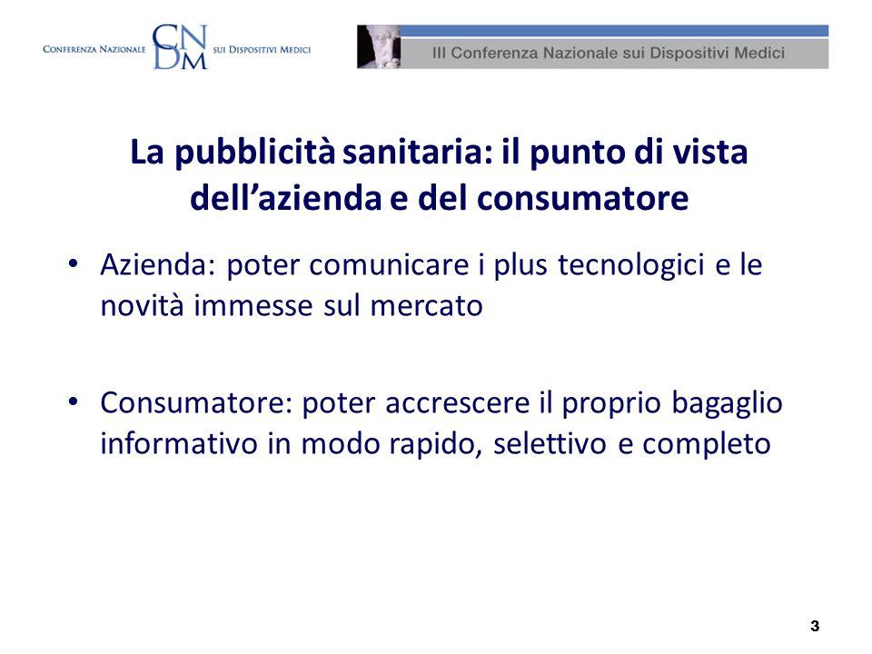La pubblicità sanitaria: il punto di vista dell'azienda e del consumatore