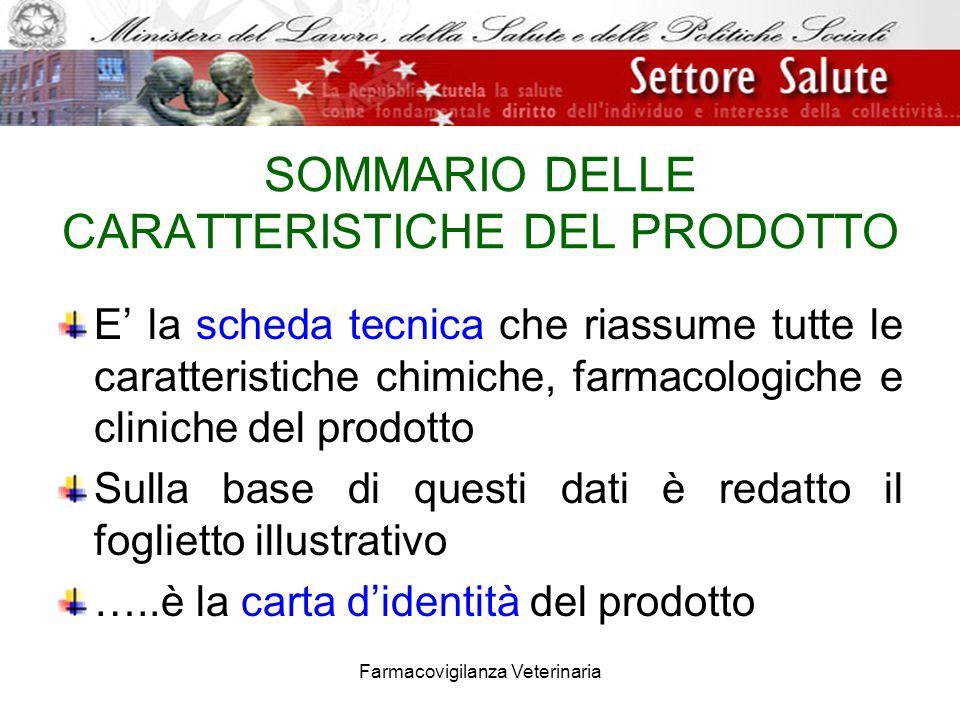SOMMARIO DELLE CARATTERISTICHE DEL PRODOTTO