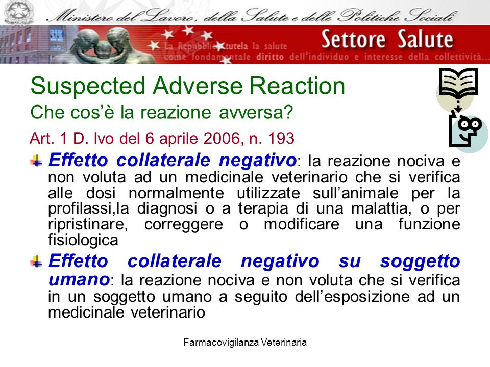 Suspected Adverse Reaction Che cos'è la reazione avversa