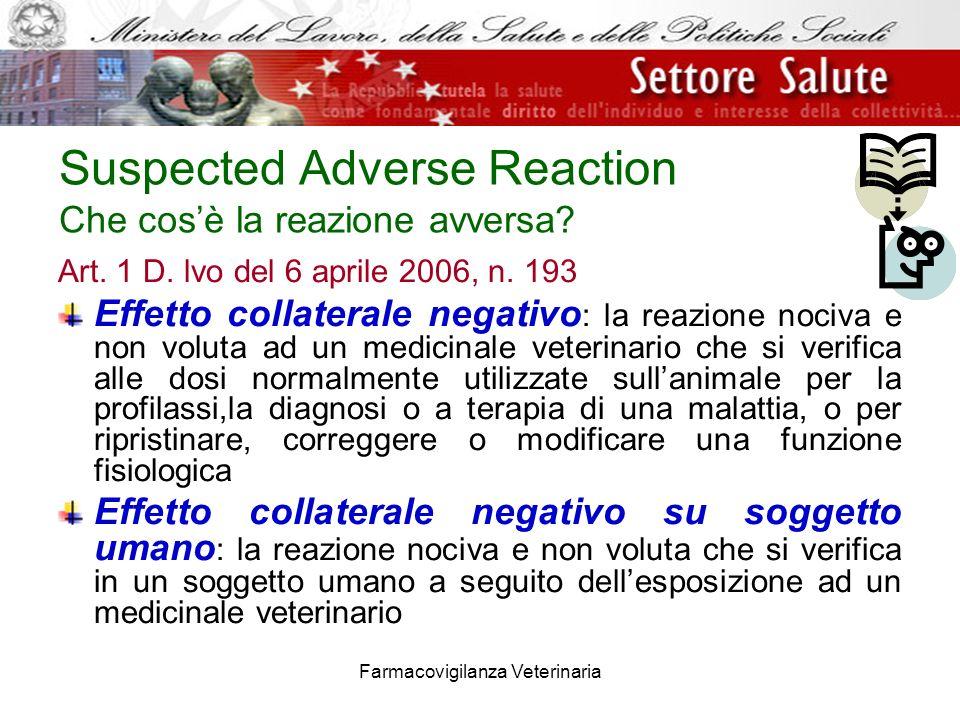 Suspected Adverse Reaction Che cos'è la reazione avversa