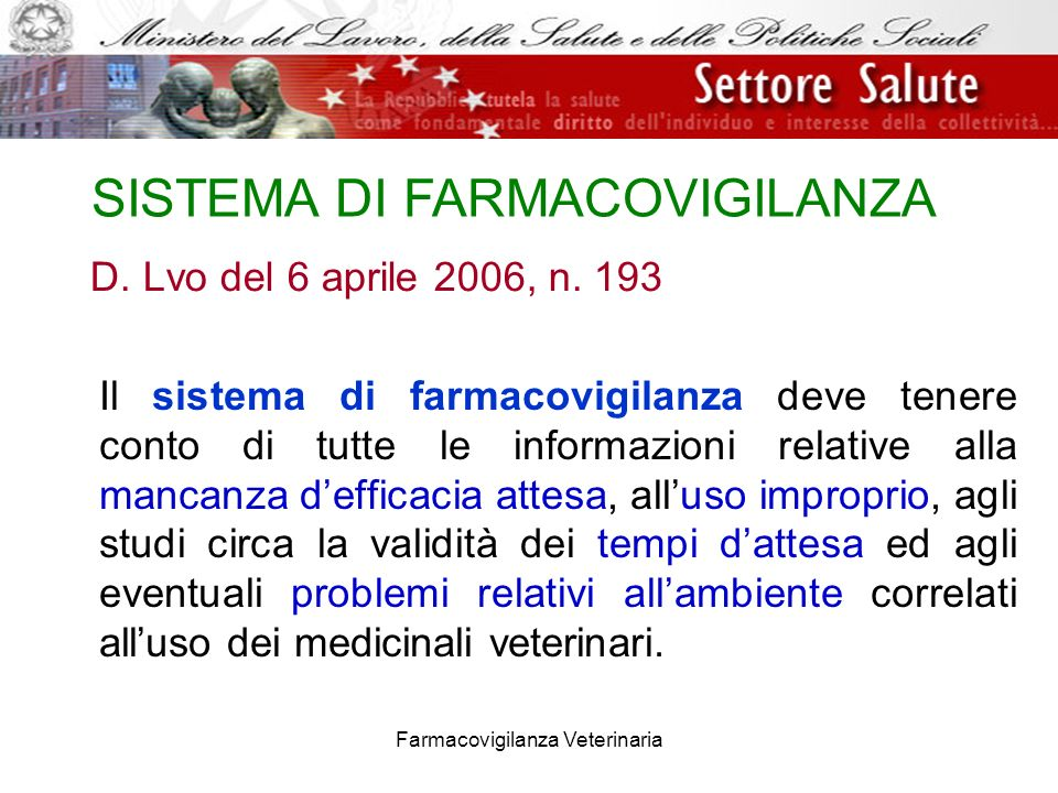 SISTEMA DI FARMACOVIGILANZA