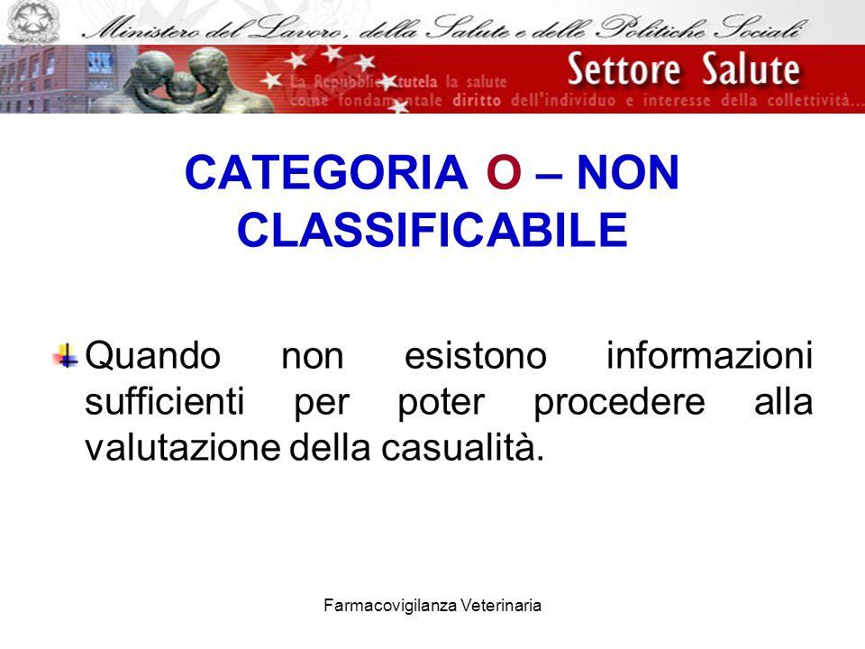 CATEGORIA O – NON CLASSIFICABILE