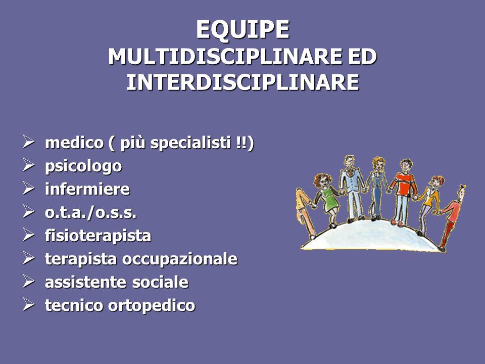 EQUIPE MULTIDISCIPLINARE ED INTERDISCIPLINARE