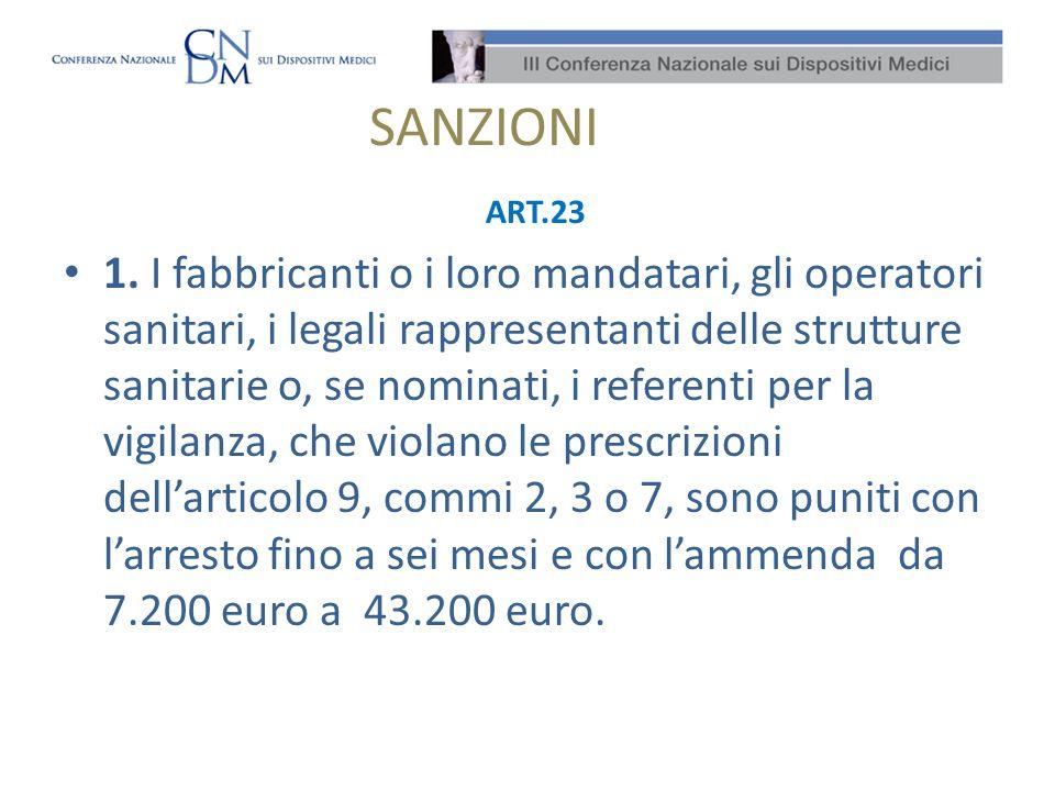 SANZIONI ART.23.