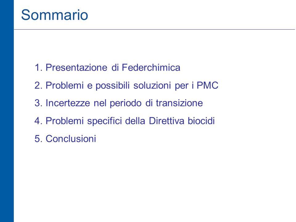 Sommario Presentazione di Federchimica