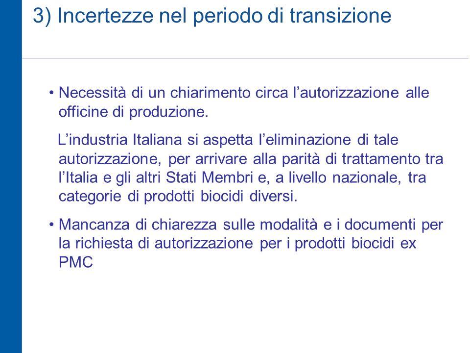 3) Incertezze nel periodo di transizione