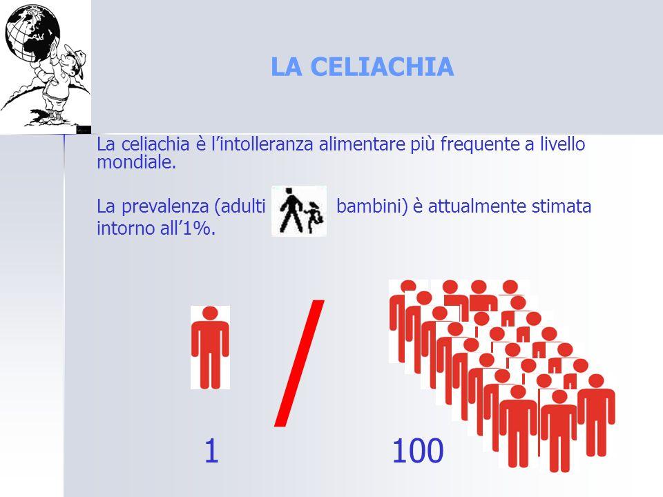 LA CELIACHIA La celiachia è l'intolleranza alimentare più frequente a livello mondiale.