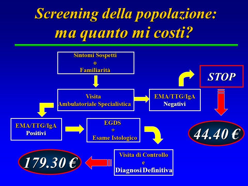 Screening della popolazione: ma quanto mi costi