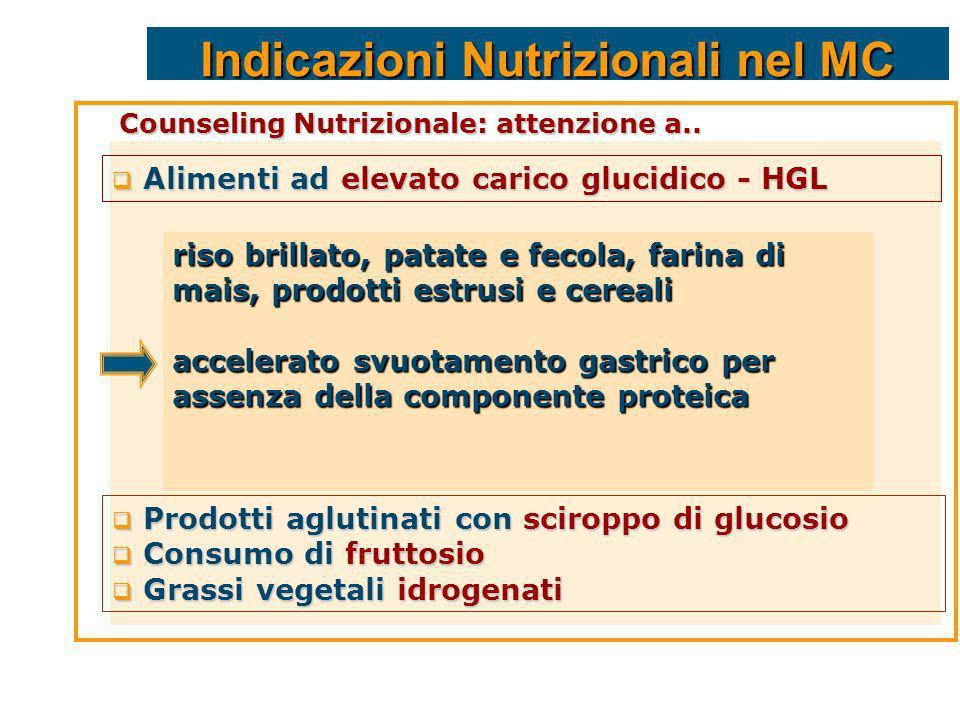 Indicazioni Nutrizionali nel MC