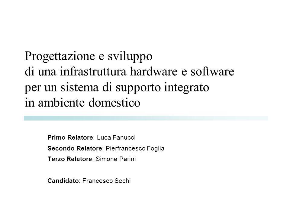 Progettazione e sviluppo di una infrastruttura hardware e software per un sistema di supporto integrato in ambiente domestico