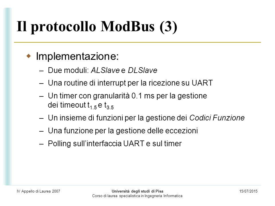 Il protocollo ModBus (3)