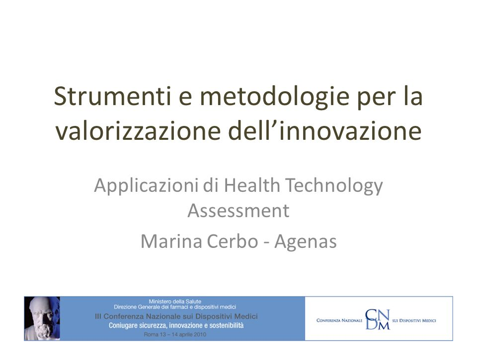 Strumenti e metodologie per la valorizzazione dell'innovazione