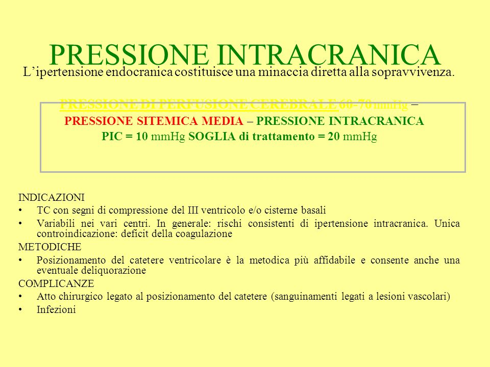 PRESSIONE INTRACRANICA