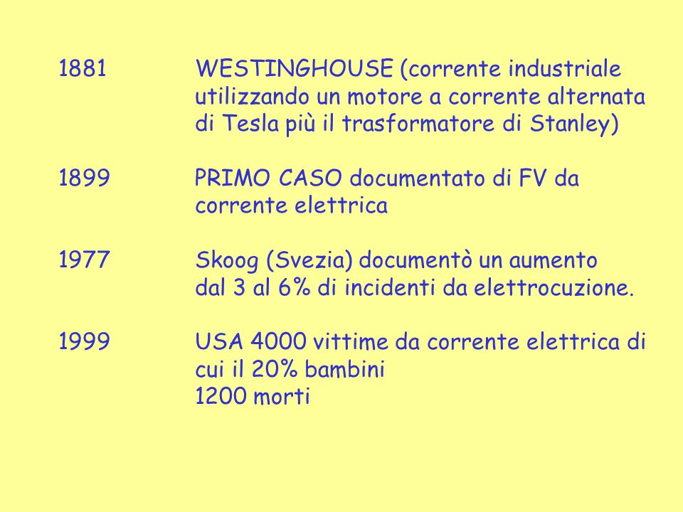 1881 WESTINGHOUSE (corrente industriale