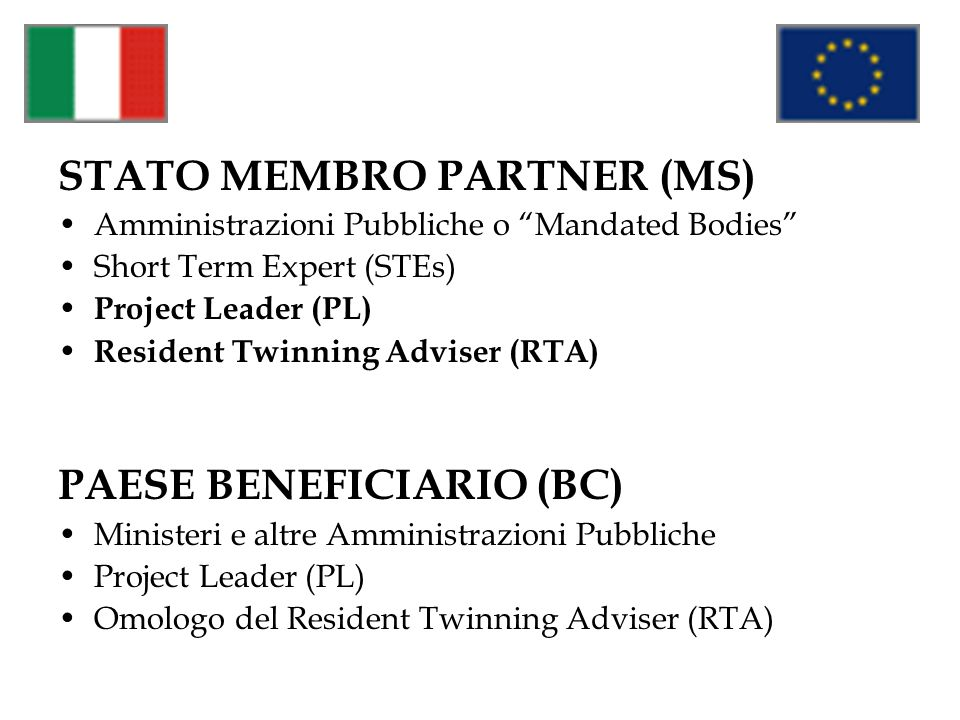 STATO MEMBRO PARTNER (MS)