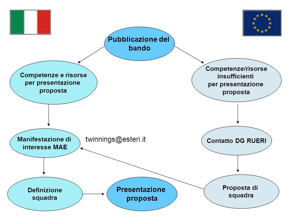 Pubblicazione del bando Presentazione proposta
