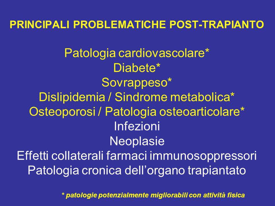 * patologie potenzialmente migliorabili con attività fisica