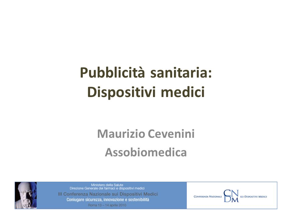 Pubblicità sanitaria: Dispositivi medici