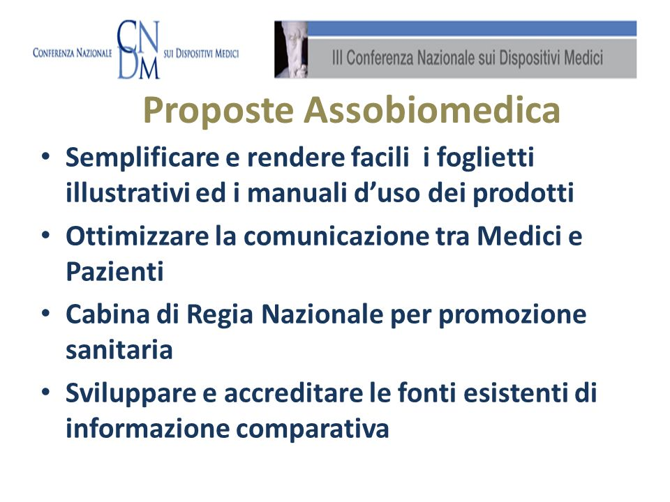 Proposte Assobiomedica