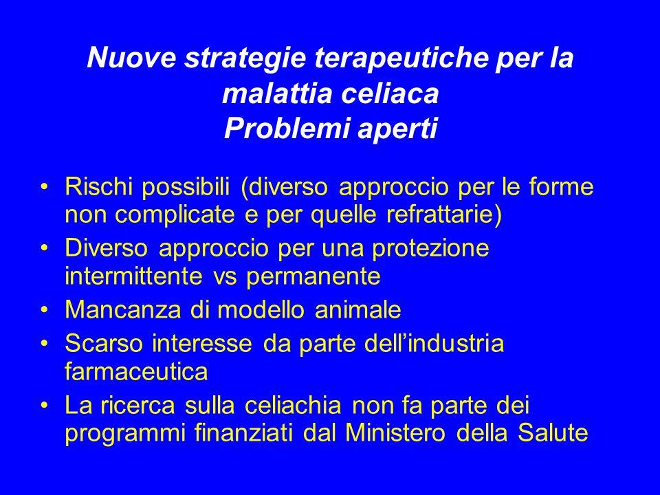 Nuove strategie terapeutiche per la malattia celiaca Problemi aperti