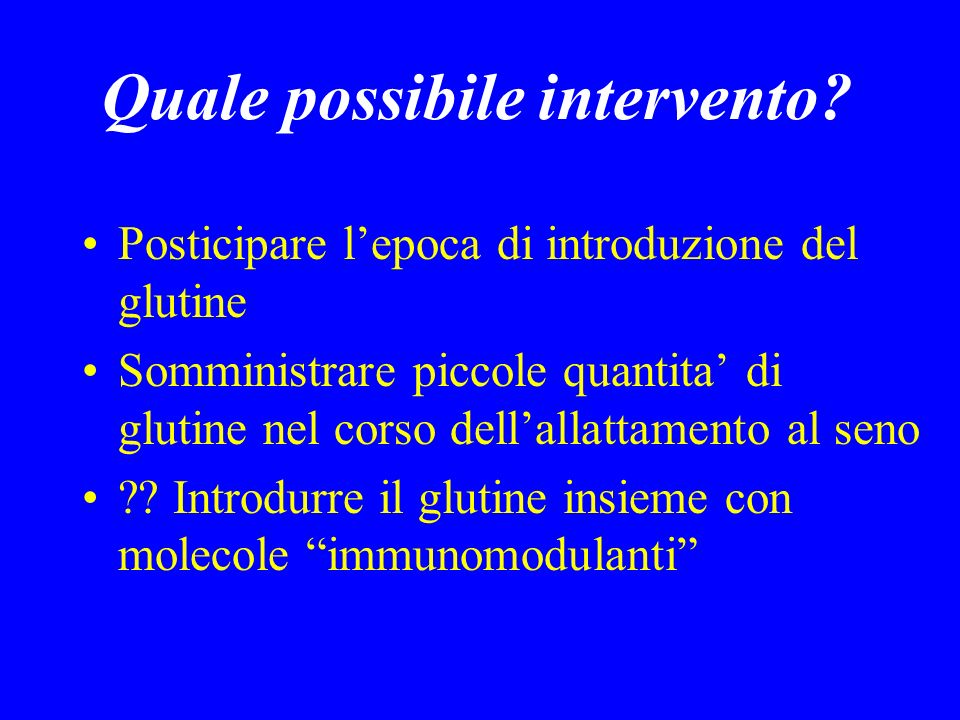 Quale possibile intervento