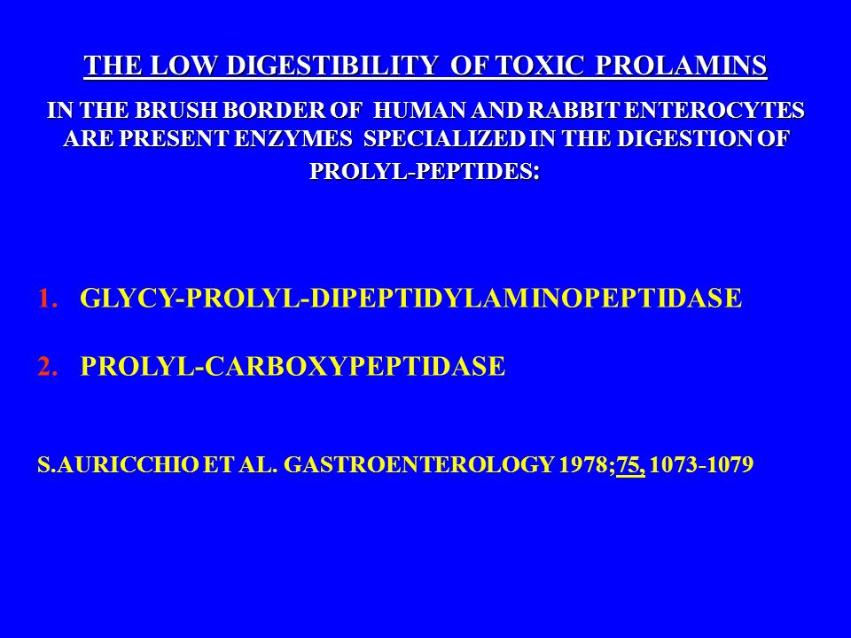 THE LOW DIGESTIBILITY OF TOXIC PROLAMINS