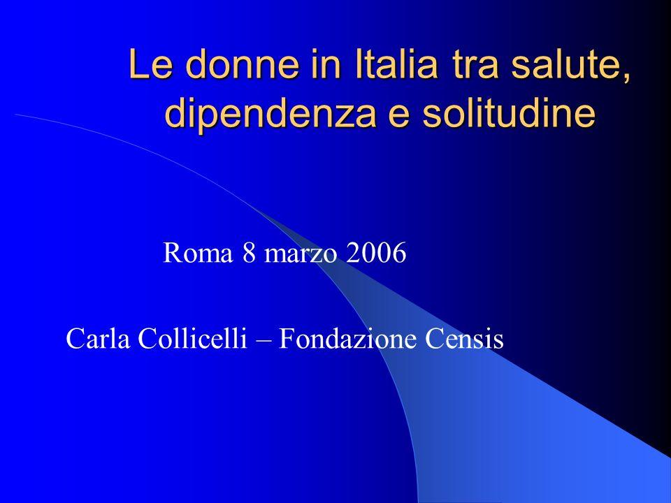 Le donne in Italia tra salute, dipendenza e solitudine