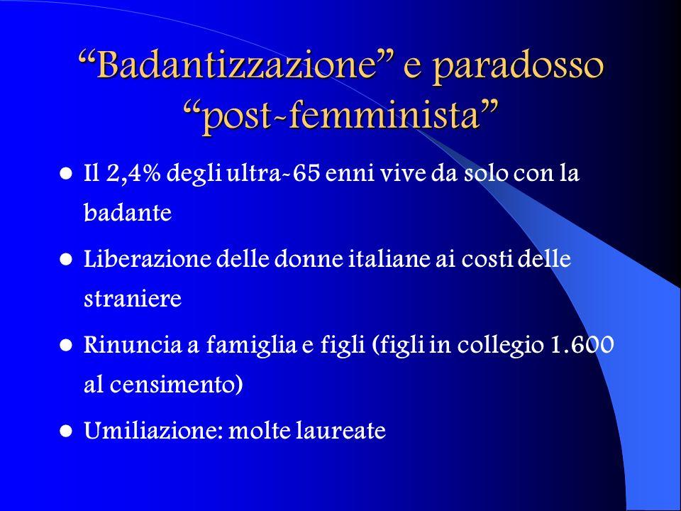 Badantizzazione e paradosso post-femminista
