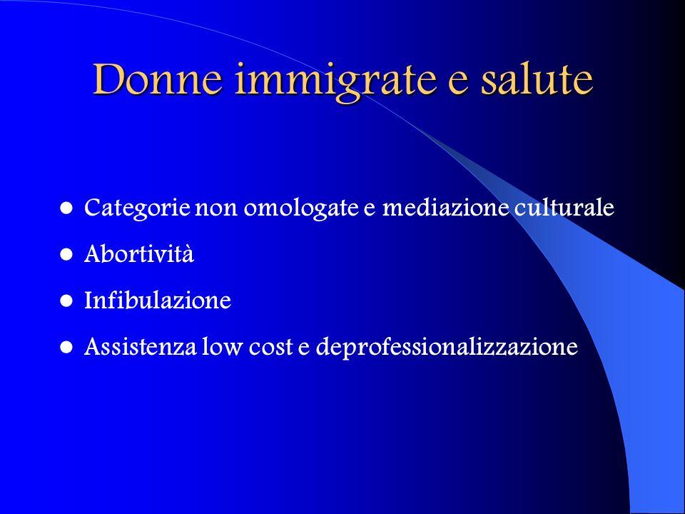 Donne immigrate e salute