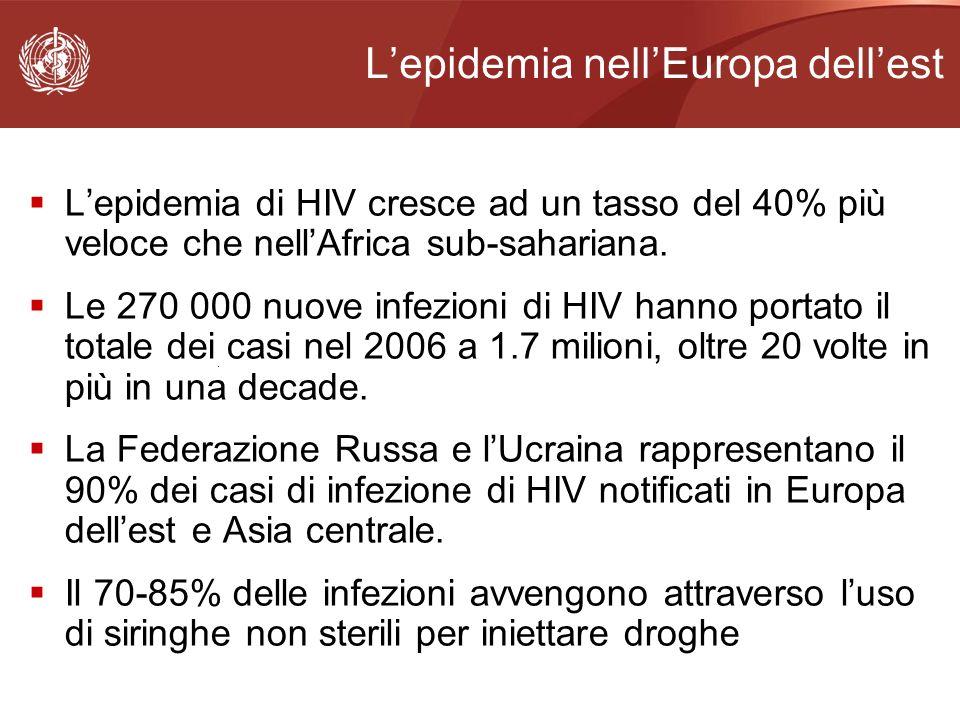 L'epidemia nell'Europa dell'est