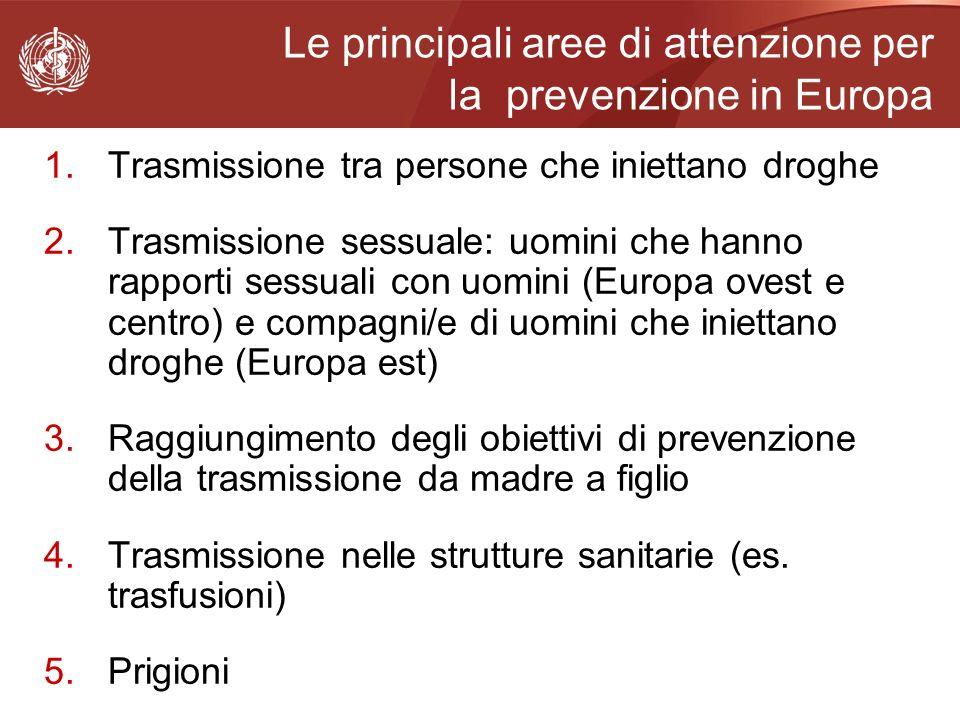 Le principali aree di attenzione per la prevenzione in Europa
