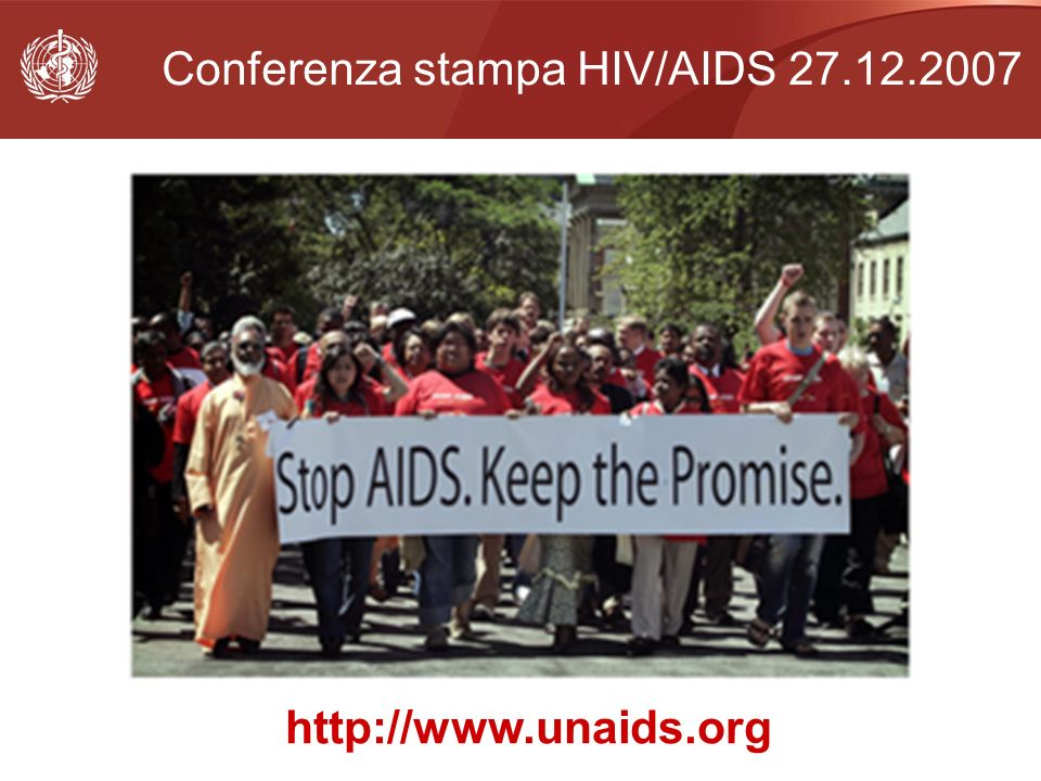 Conferenza stampa HIV/AIDS