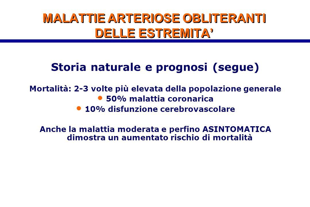 MALATTIE ARTERIOSE OBLITERANTI DELLE ESTREMITA'