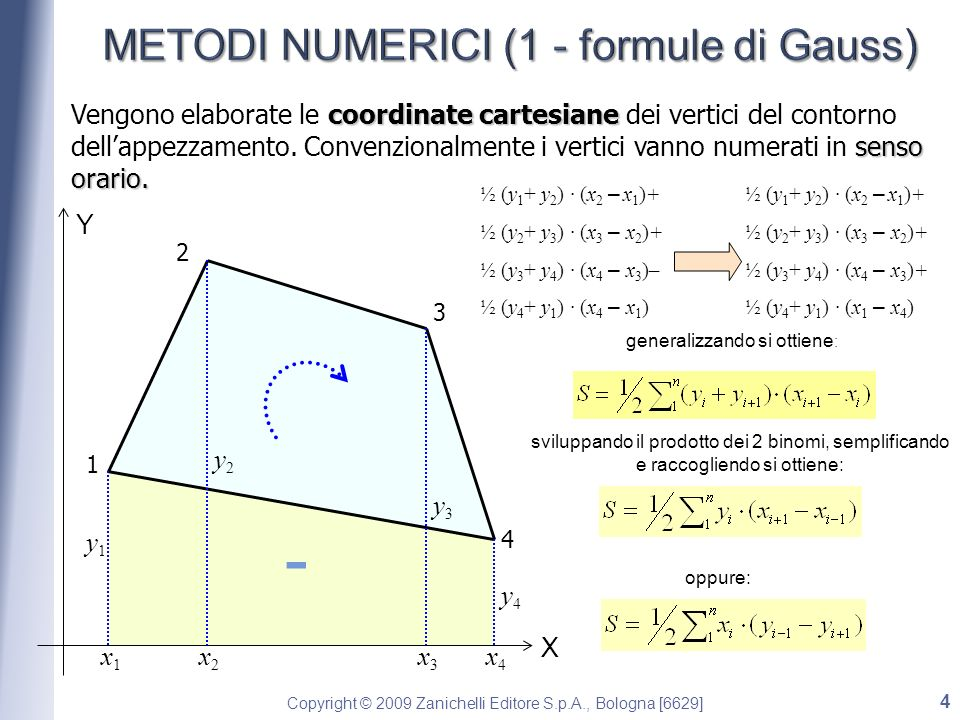 METODI NUMERICI (1 - formule di Gauss)