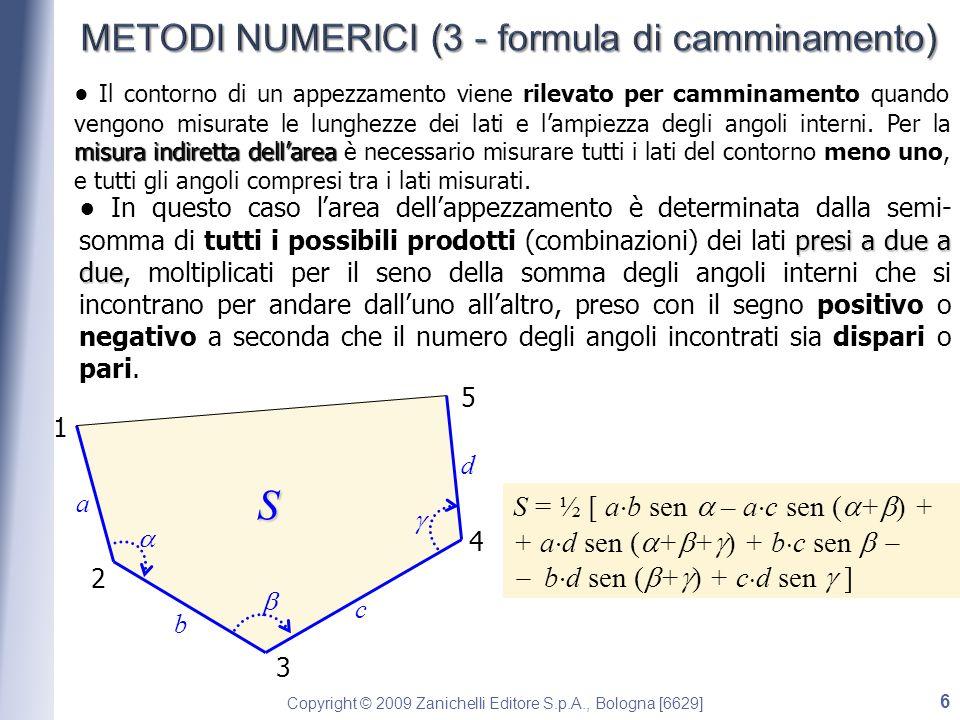 METODI NUMERICI (3 - formula di camminamento)