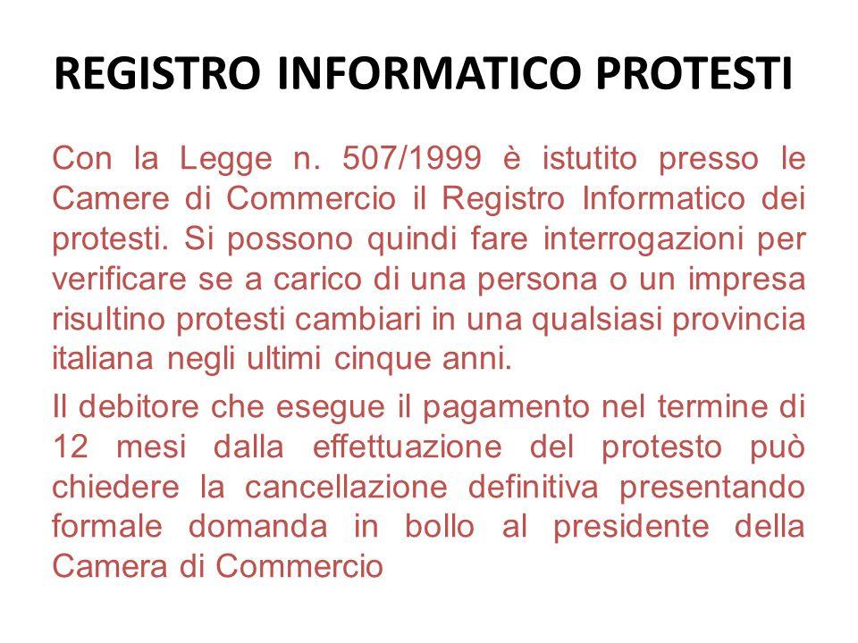 REGISTRO INFORMATICO PROTESTI