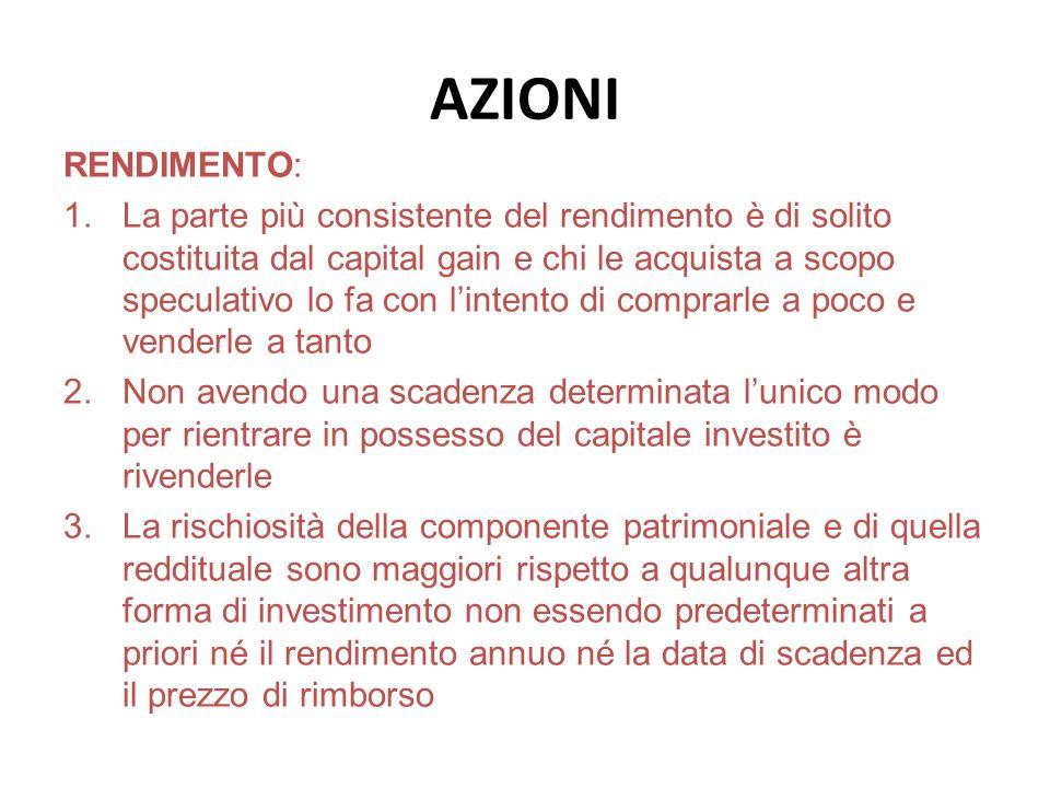 AZIONI RENDIMENTO: