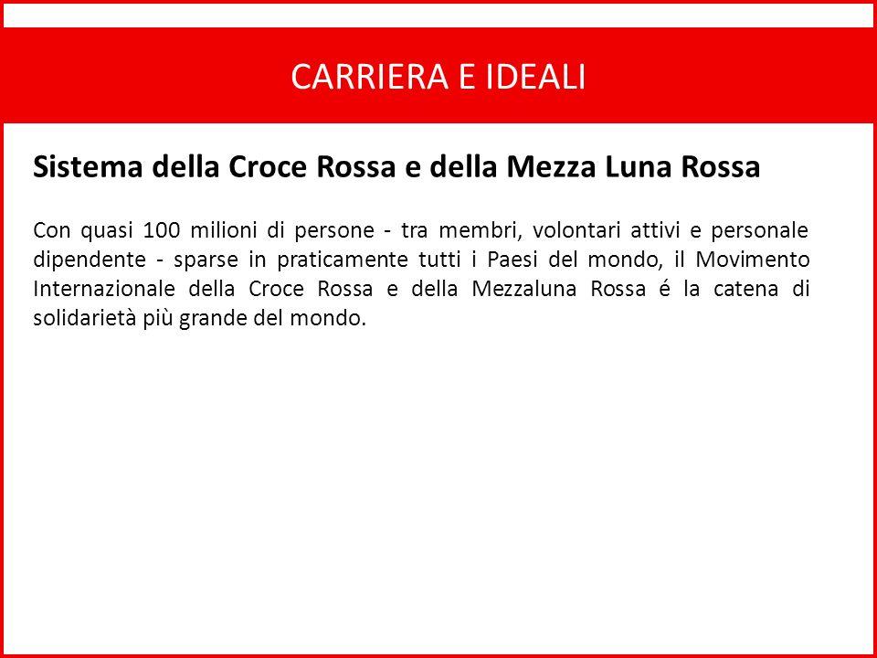 CARRIERA E IDEALI Sistema della Croce Rossa e della Mezza Luna Rossa