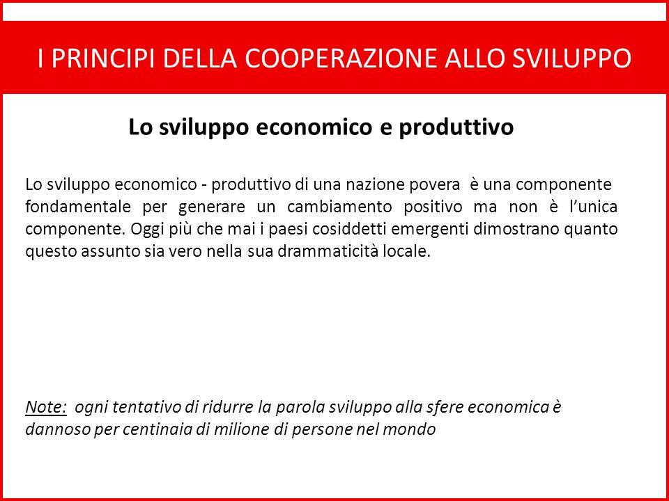 Lo sviluppo economico e produttivo