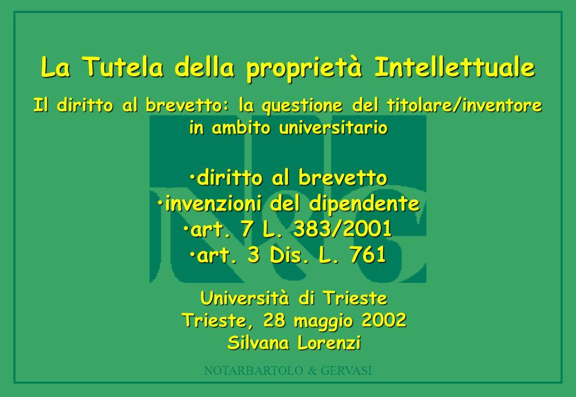 La Tutela della proprietà Intellettuale invenzioni del dipendente