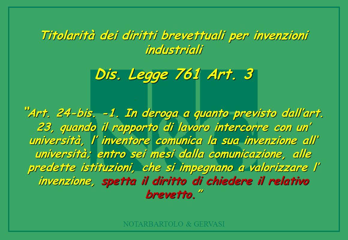 Titolarità dei diritti brevettuali per invenzioni industriali
