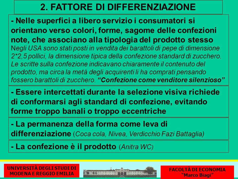2. FATTORE DI DIFFERENZIAZIONE