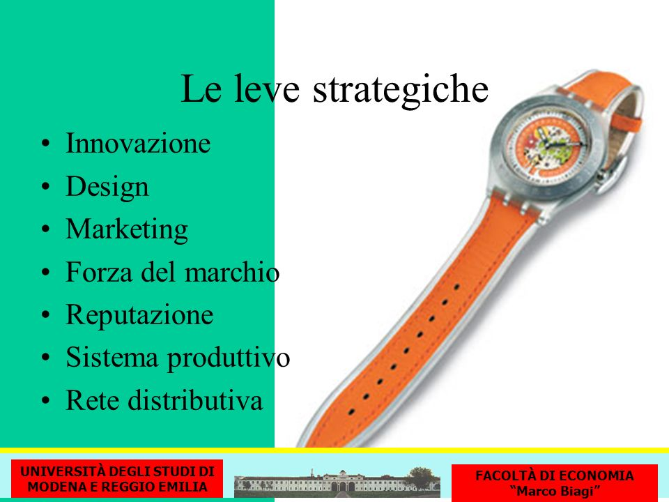 Le leve strategiche Innovazione Design Marketing Forza del marchio