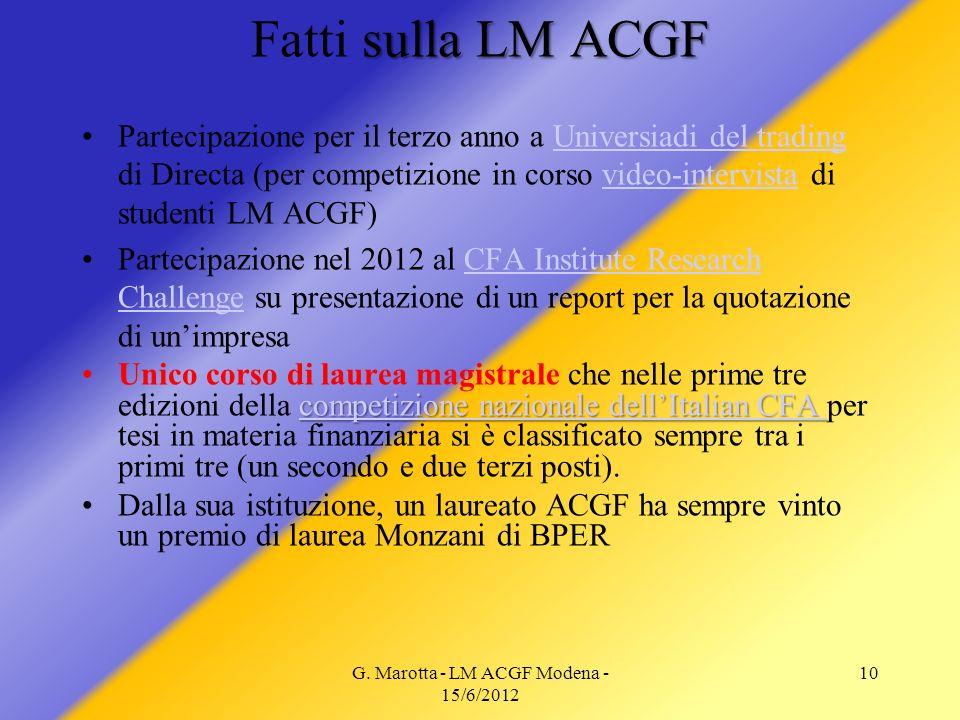 G. Marotta - LM ACGF Modena - 15/6/2012