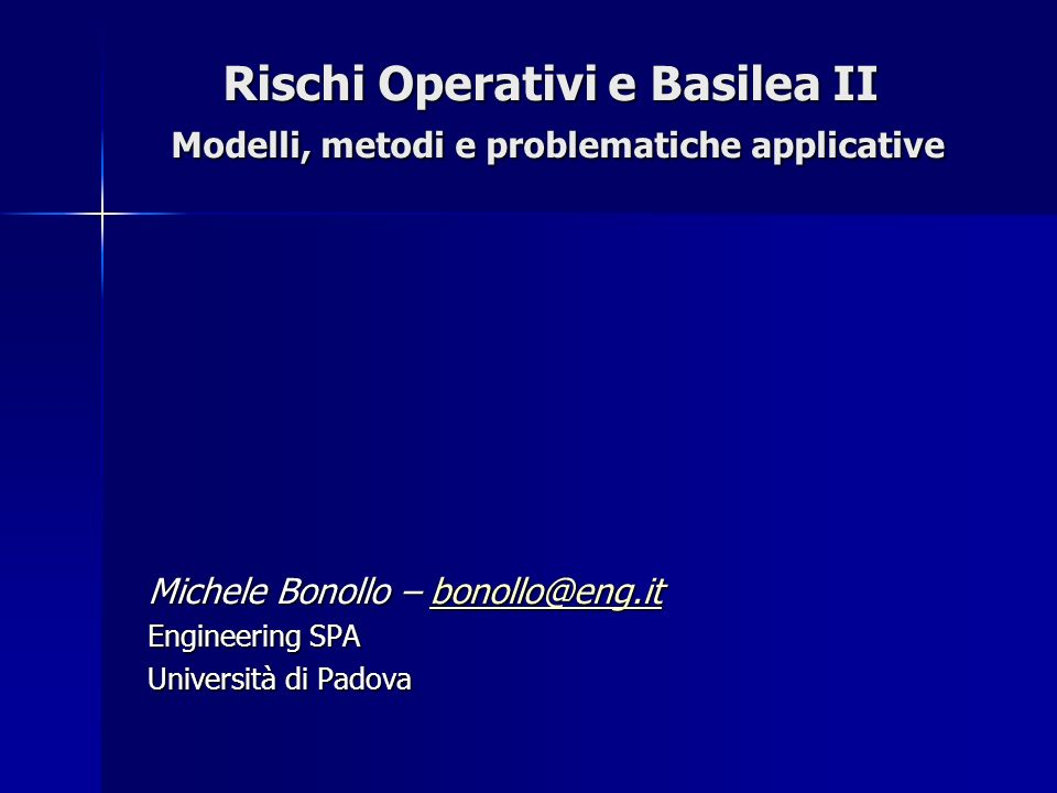 Michele Bonollo – bonollo@eng.it Engineering SPA Università di Padova