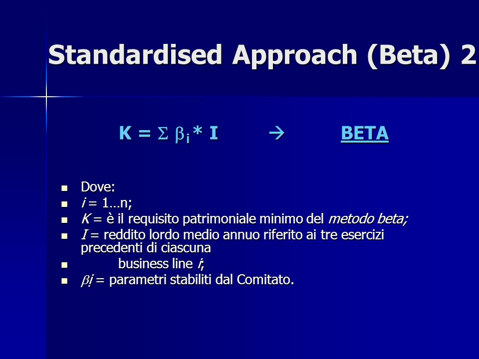 Standardised Approach (Beta) 2