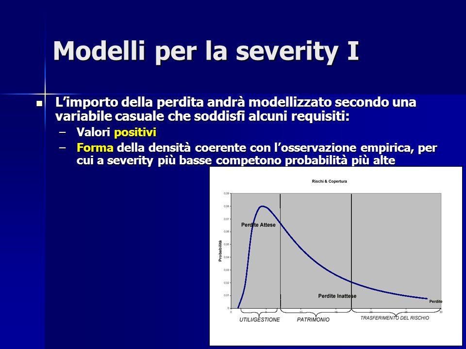 Modelli per la severity I