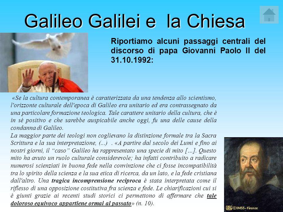 Galileo Galilei e la Chiesa