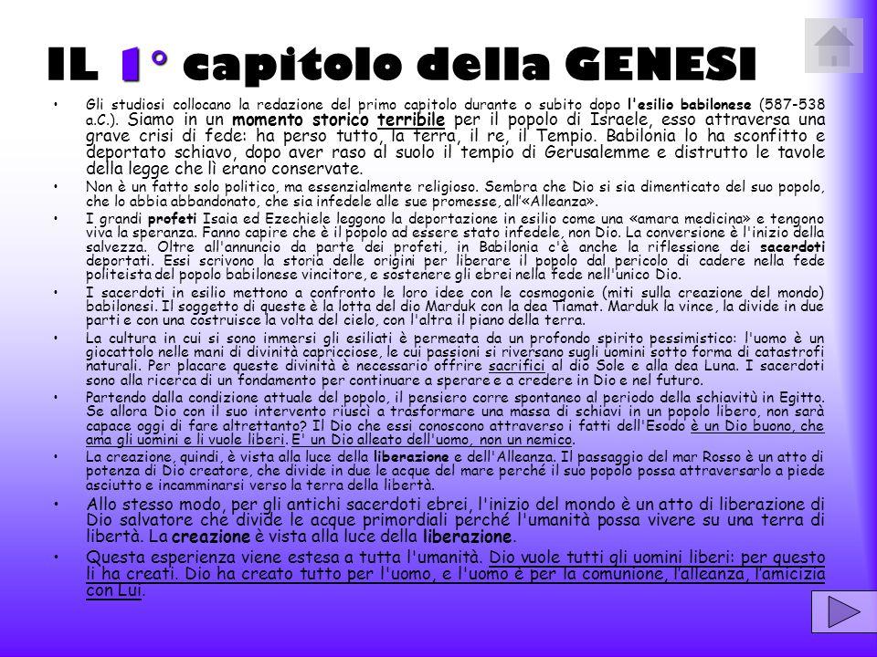 IL 1 capitolo della GENESI
