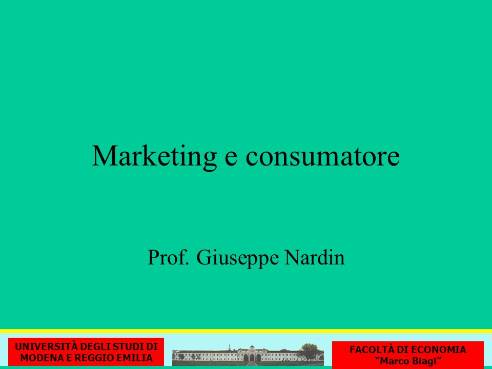 Marketing e consumatore